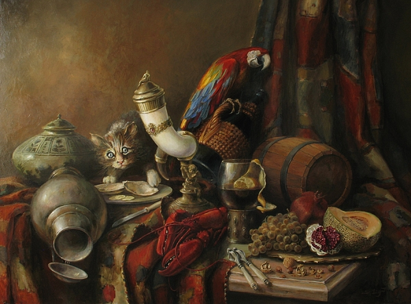 Still-life with a lobster by Tigran Ghulyan